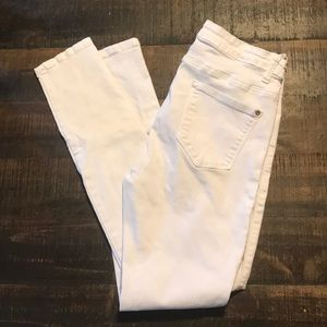 White Skinny Jeans; Worn 2-3 times only